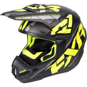 FXR Racing Black/Hi-Vis/Charcoal Torque Core Helmet - 170621-1065-13