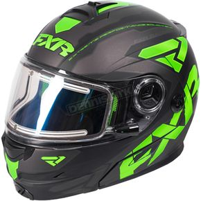 FXR Racing Black/Lime/Charcoal Fuel Modular Elite Helmet w/Electric Shield - 170624-1070-19