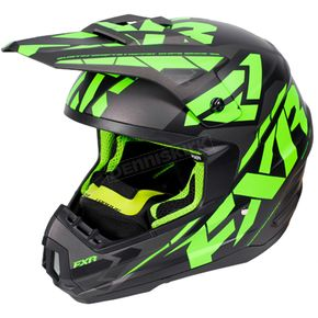 FXR Racing Black/Lime/Charcoal Torque Core Helmet - 170621-1070-10