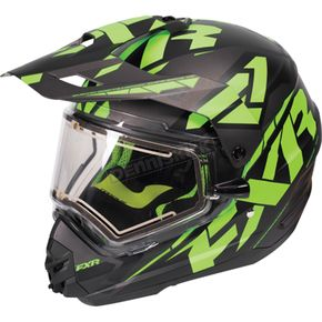 FXR Racing  Black/Lime/Charcoal Torque X Core Helmet w/Electric Shield  - 170610-1070-10
