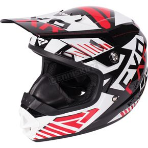 FXR Racing Youth Black/Red/White Throttle Battalion Helmet - 170668-1020-10