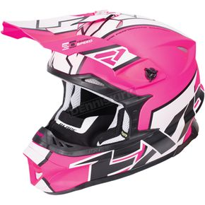 FXR Racing Electric Pink/White/Black Blade Clutch Helmet - 170601-9401-07
