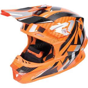 FXR Racing Flo Orange/Silver Blade Carbon Helmet - 170600-3309-10