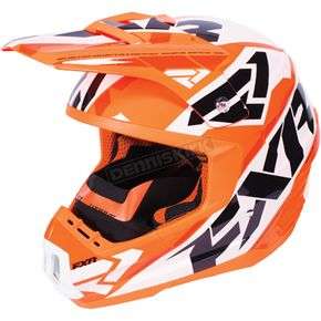 FXR Racing Flo Orange/White/Black Torque Core Helmet - 170621-3301-10