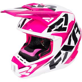 FXR Racing Fuchsia/White/Black Torque Core Helmet - 170621-9001-10
