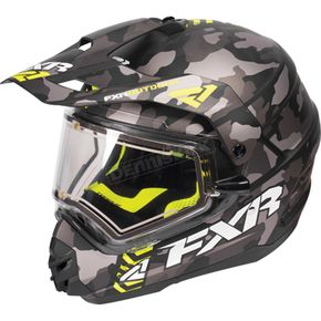 FXR Racing Gray Urban Camo/Hi-Vis Torque X Squadron Helmet w/Electric Shield - 170613-0665-16