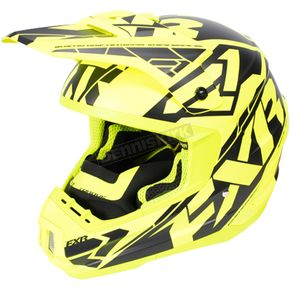 FXR Racing Hi-Vis/Black Torque Core Helmet - 170621-6510-10