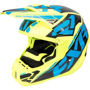 FXR Racing Hi-Vis/Blue/Black Torque Core Helmet - 170621-6540-10