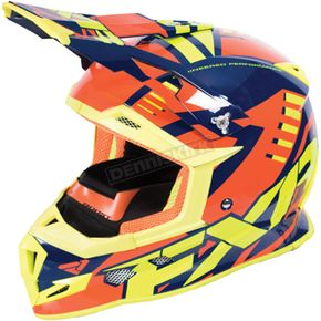 FXR Racing Navy/Orange/Hi-Vis Boost Revo Helmet - 170607-4530-16