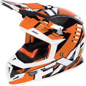 FXR Racing Orange/Black/White Boost Revo Helmet - 170607-3010-10