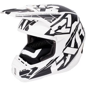 FXR Racing White/Black Torque Core Helmet - 170621-0110-19