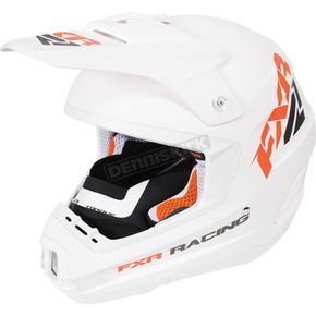FXR Racing White/Orange Torque Recoil Helmet - 170620-0130-10