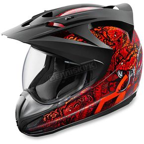 Icon Red Variant Cottonmouth Helmet - 0101-9184