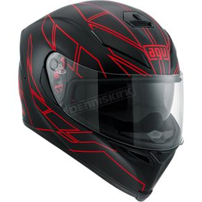 AGV Black/Red K-5 S Hero Helmet - 0041O2HY01005