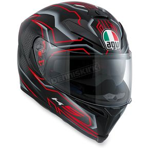 AGV Black/Red K-5 S Deep Helmet - 0041O2HY00510