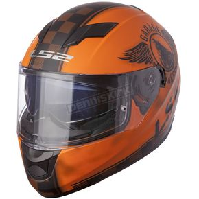 LS2 Matte Orange/Black Stream Fan Helmet - 328-1405