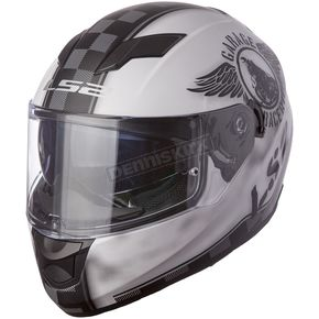 LS2 Matte White/Black Stream Fan Helmet - 328-1413