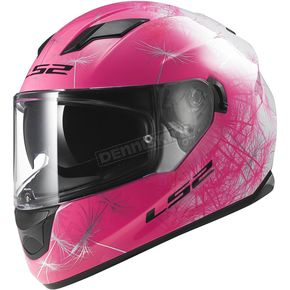LS2 Pink/White/Black Stream Wind Helmet - 328-1503