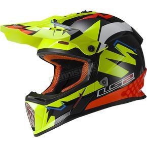 LS2 Black/Yellow/Orange Fast Explosive Helmet - 437-1003