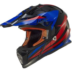 LS2 Black/Blue/Red Fast Race Helmet - 437-1205