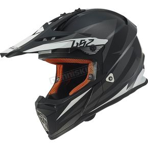 LS2 Gray/Black Fast Race Helmet - 437-1222