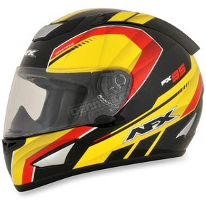 AFX Black/Red/Yellow FX-95 German Helmet - 0101-9606