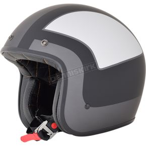AFX Frost Gray/Silver/Black FX-76 Tricolor Helmet  - 0104-2091
