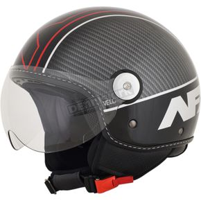 AFX Gloss Black/Red Veloce FX-33 Scooter Helmet - 0106-0718