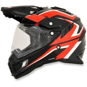 AFX Black/Red/White FX-41DS Dual Sport AT Helmet - 0110-4975
