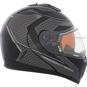 CKX Gray/Black Tranz 1.5 RSV Direction Modular Helmet w/Electric Shield - 505387