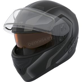 CKX Matte Black/Charcoal Flex RSV Lucas Snow Modular Helmet w/Electric Shield - 505857