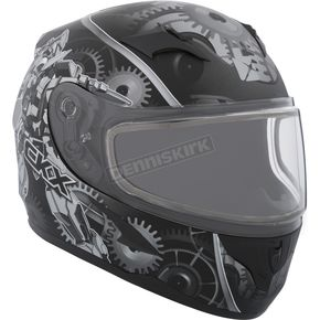 CKX Youth Black/Gray RR610Y Mecanic Snow Helmet - 506312