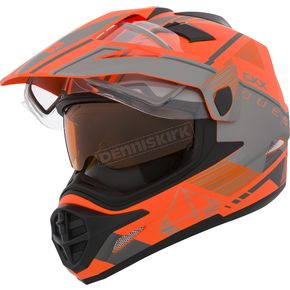 CKX Matte Orange/Gray Quest RSV Ridge Adventure Helmet w/Electric Shield - 506583