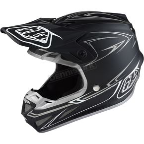 Troy Lee Designs Black/Silver Pinstripe Composite SE4 Helmet - 101018294