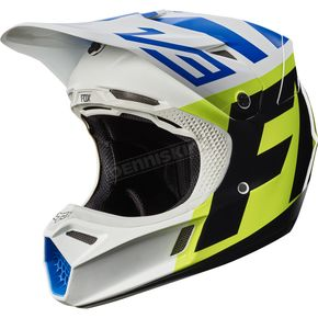 Fox White/Yellow V3 Creo Helmet - 19094-214-S