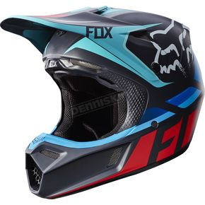 Fox Gray/Red V3 Seca Helmet - 17868-037-M