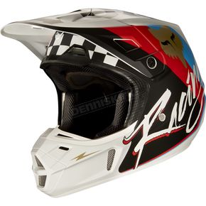 Fox Black V2 Rohr Helmet - 17374-001-L