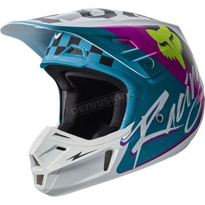 Fox Teal V2 Rohr Helmet - 17374-176-XL