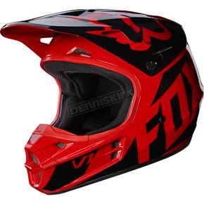 Fox Red V1 Race Helmet - 17343-003-2X