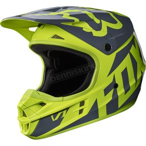 Fox Yellow V1 Race Helmet - 17343-005-XS