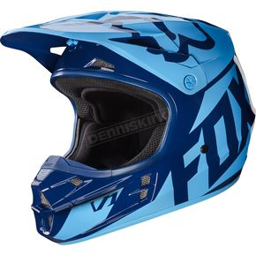 Fox Navy V1 Race Helmet - 17343-007-XL