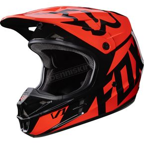 Fox Orange V1 Race Helmet - 17343-009-S