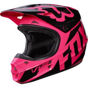 Fox Pink V1 Race Helmet - 17343-170-XS