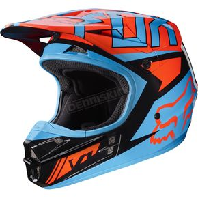 Fox Black/Orange V1 Falcon Helmet - 17351-016-XL