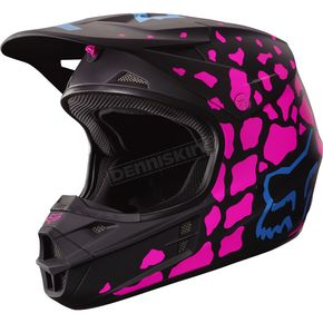 Fox Black/Pink V1 Grav Helmet - 17354-285-XL