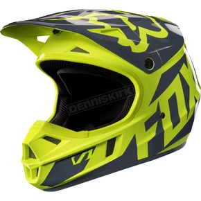Fox Youth Yellow V1 Race Helmet - 17396-005-L
