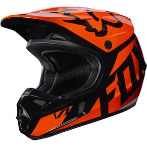 Fox Youth Orange V1 Race Helmet - 17396-009-M