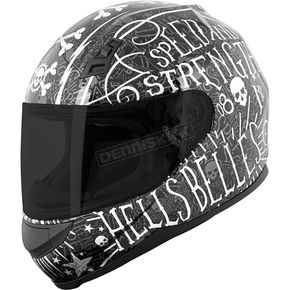 Speed and Strength Matte Black/Silver SS700 Hell's Belles Helmet - 884388