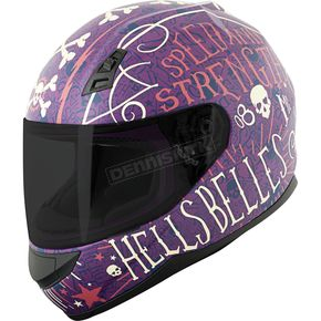 Speed and Strength Matte Purple/Cream SS700 Hell's Belles Helmet - 884393