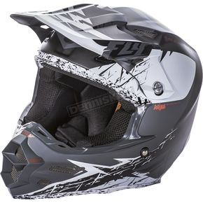 Fly Racing Matte White/Black F2 Carbon MIPS Retrospec Helmet - 73-4221S